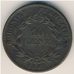 French Colonies, 10 centimes, 1839–1844