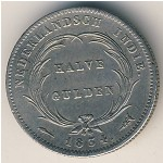 Netherlands East Indies, 1/2 gulden, 1826–1834