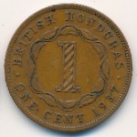 British Honduras, 1 cent, 1937–1947