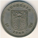 Rhodesia, 1shilling-10 cents, 1964
