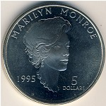 Marshall Islands, 5 dollars, 1995