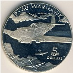 Marshall Islands, 5 dollars, 1991