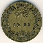 British West Africa, 1 shilling, 1949–1952