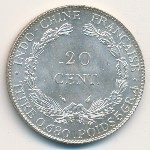 French Indo China, 20 cents, 1937