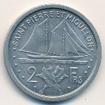 Saint Pierre and Miquelon, 2 francs, 1948
