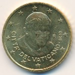 Vatican City, 50 euro cent, 2008–2013