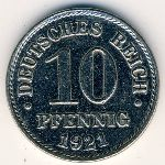 Germany, 10 pfennig, 1916–1922