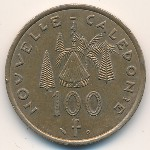 New Caledonia, 100 francs, 1976–2005