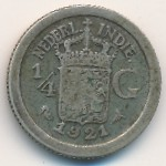 Netherlands East Indies, 1/4 gulden, 1910–1930