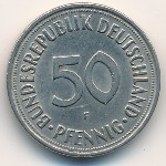 West Germany, 50 pfennig, 1950–1971
