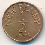 Guernsey, 1/2 new penny, 1971
