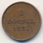 Guernsey, 1 double, 1830