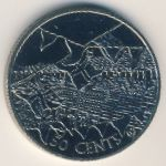 Cook Islands, 50 cents, 2002