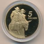 Австралия, 5 долларов (1990 г.)