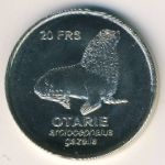 Crozet Islands, 20 francs, 2011
