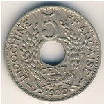 French Indo China, 5 cents, 1938–1939