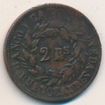 , 2 reales, 1860–1861