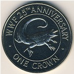 Turks and Caicos Islands, 1 crown, 1988
