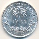 British West Africa, 2 shillings, 1913–1920