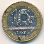 Франция, 10 франков (1989–1991 г.)
