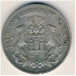 Hamburg, 5 mark, 1875–1888