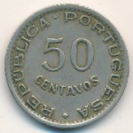 Sao Tome and Principe, 50 centavos, 1951