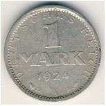 Weimar Republic, 1 mark, 1924–1925
