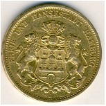 Hamburg, 20 mark, 1875–1889