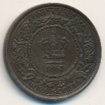 Nova Scotia, 1 cent, 1861–1864