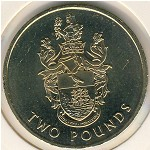 Saint Helena Island and Ascension, 2 pounds, 2002