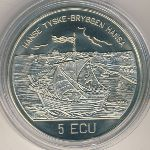 Norway, 5 ecu, 1994
