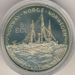 Norway, 5 ecu, 1993