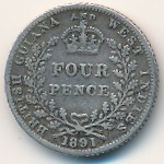 British Guiana and West Indies, 4 pence, 1891–1901