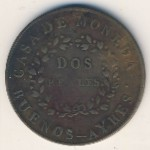, 2 reales, 1840–1844