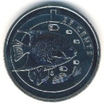 Bermuda Islands, 25 cents, 2013
