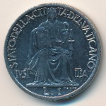 Vatican City, 1 lira, 1942–1946