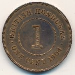 British Honduras, 1 cent, 1904–1909