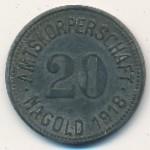 Нагольд., 20 пфеннигов (1918 г.)