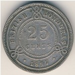 British Honduras, 25 cents, 1894–1901