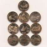 Китай, Набор монет