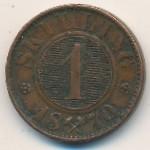 Норвегия, 1 скиллинг (1870 г.)