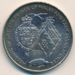 Ascension Island, 25 pence, 1981
