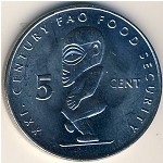 Cook Islands, 5 cents, 2000