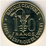 West African States, 10 francs, 1981