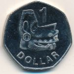 Solomon Islands, 1 dollar, 1996–2008