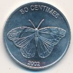 Congo Democratic Repablic, 50 centimes, 2002