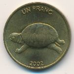 Congo Democratic Repablic, 1 franc, 2002