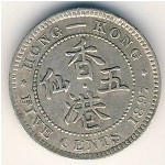 Hong Kong, 5 cents, 1866–1901