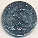 New Caledonia, 20 francs, 1972–2005