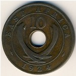 East Africa, 10 cents, 1921–1936